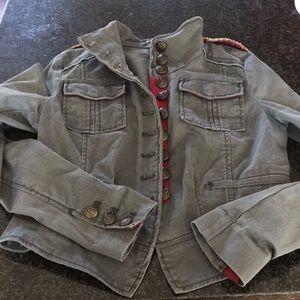 Free People grey sergeant peppers jacket